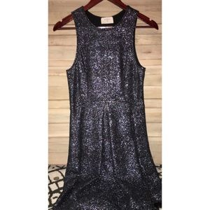 Navy sparkle dress (size large) Everly